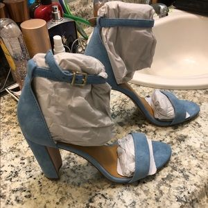 J crew suede chunky heel sandal